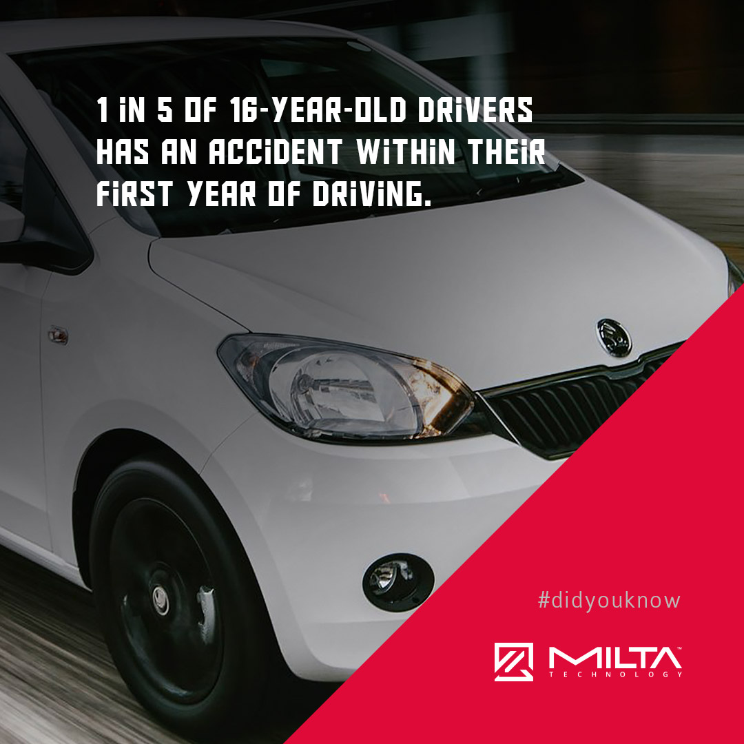 1 in 5 of 16-year-old drivers has an accident within their first year of driving MILTA Technology