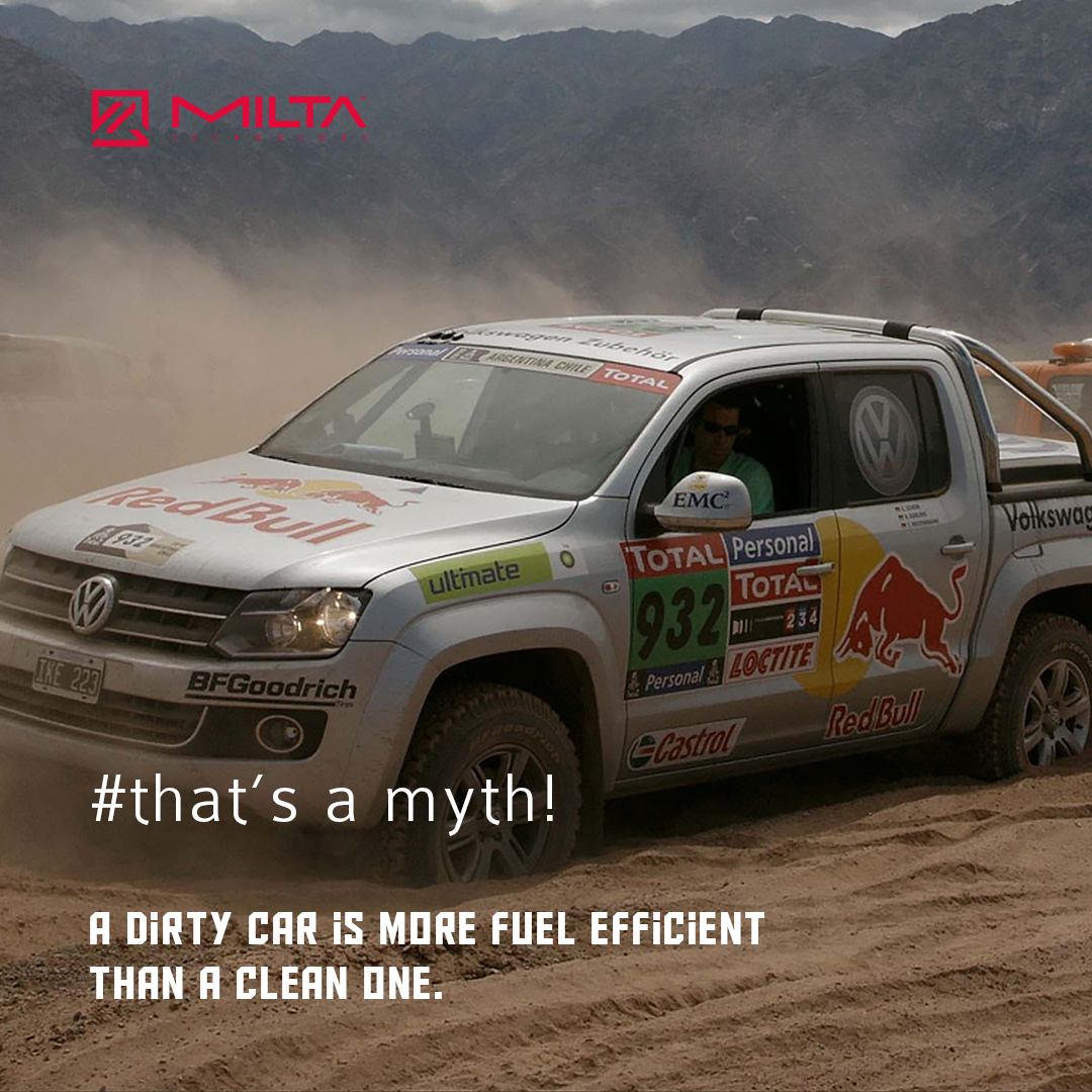 A dirty car is more fuel efficient than a clean one MILTA Technology