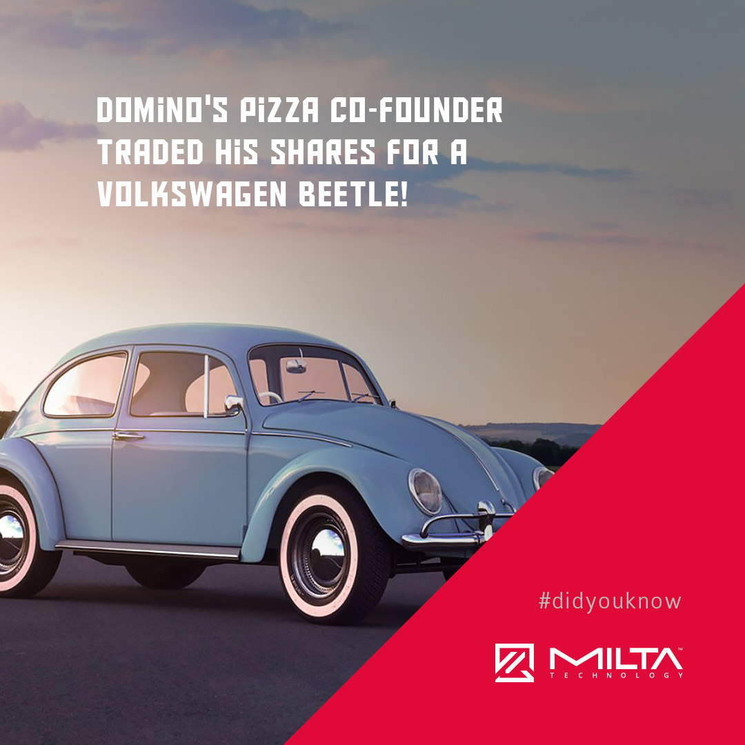 Domino's Pizza co-founder traded his shares for a Volkswagen Beetle MILTA Technology