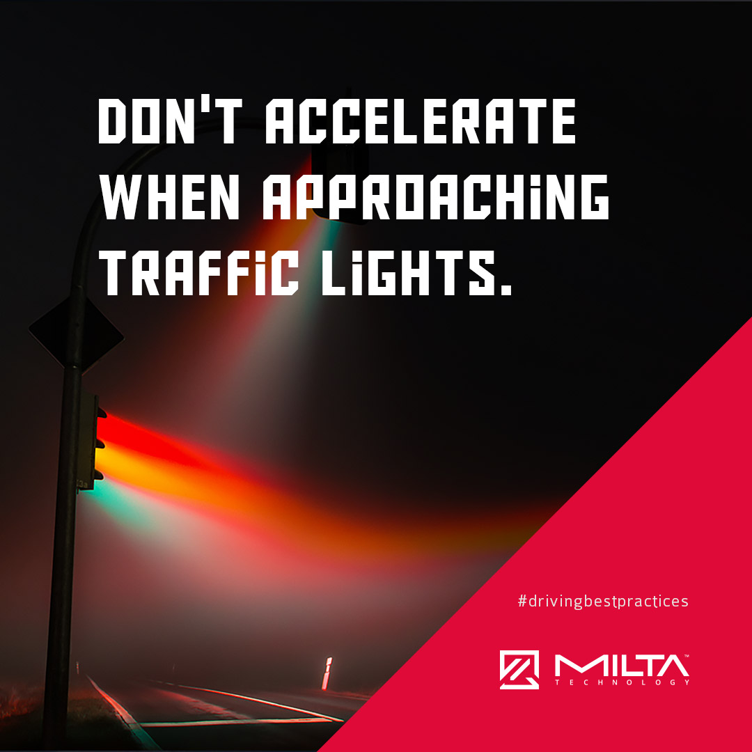 Don't accelerate when approaching traffic lights MILTA Technology