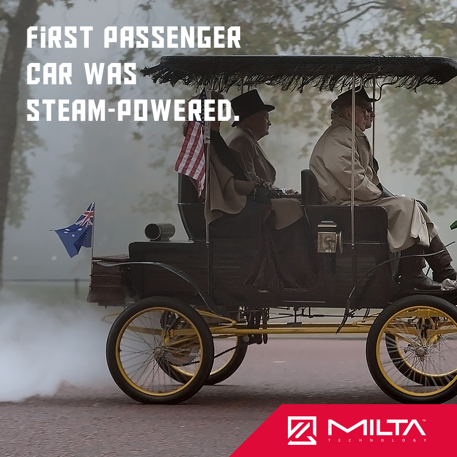 First passenger car was steam-powered MILTA Technology