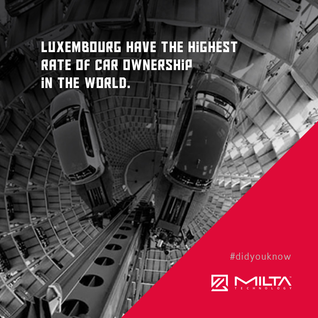 Luxembourg have the highest rate of car ownership in the world MILTA Technology