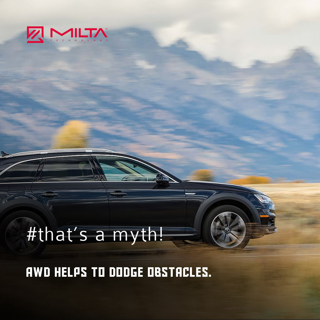 AWD helps to dodge obstacles MILTA Technology