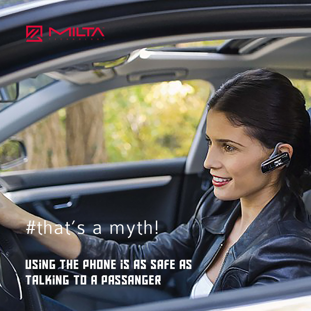 Using the phone is as safe as talking to a passanger MILTA Technology