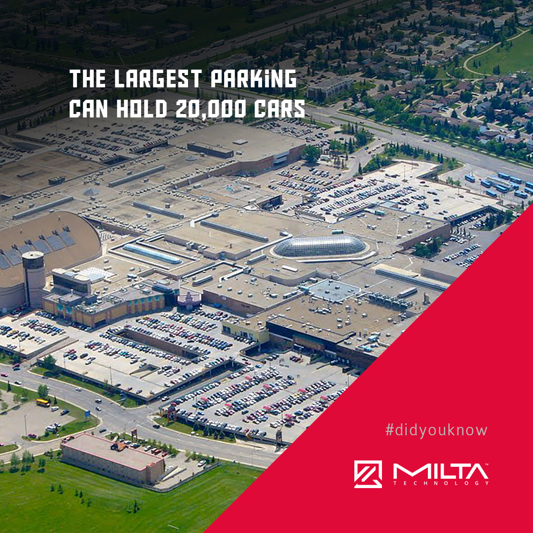 The largest parking can hold 20,000 cars MILTA Technology