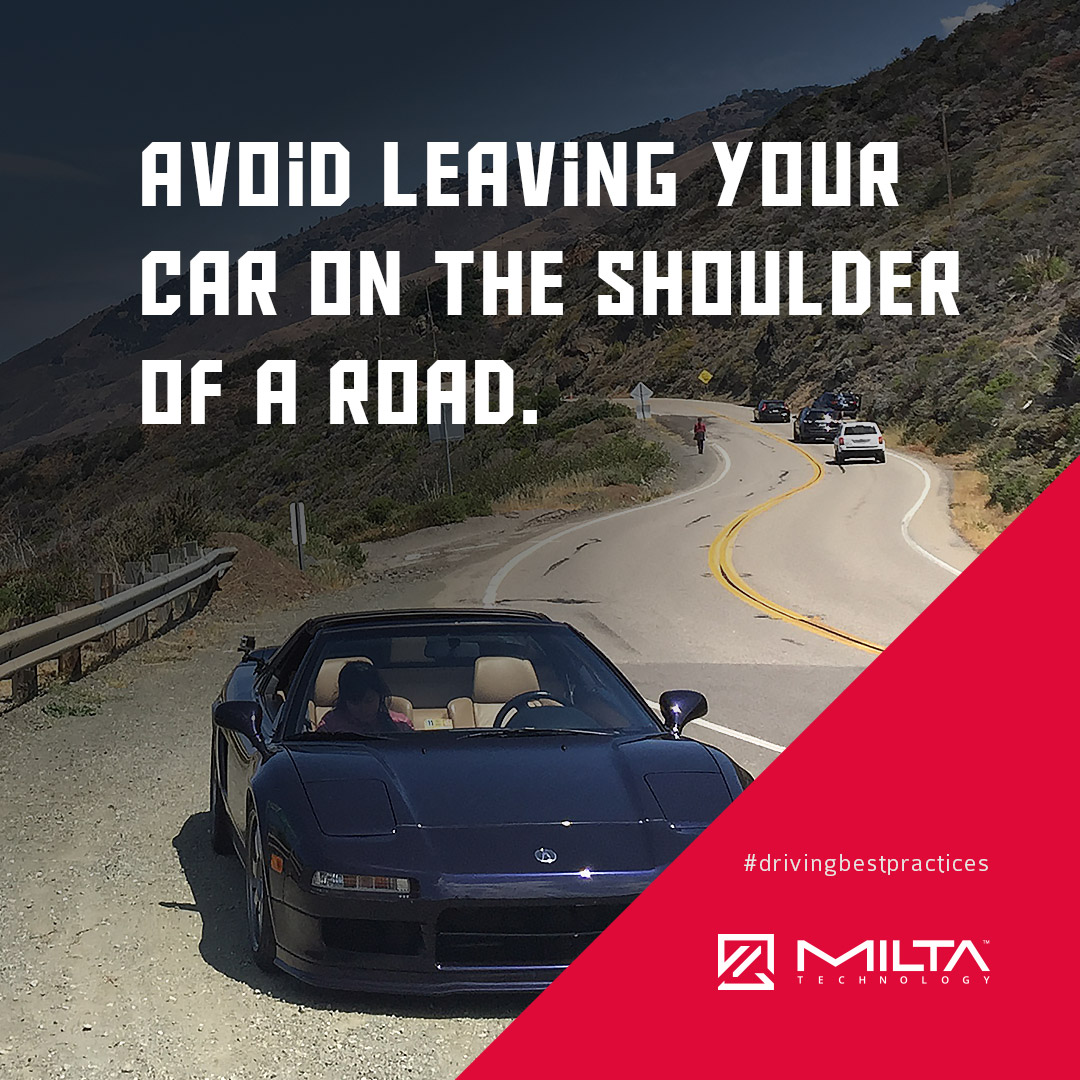Avoid leaving your car on the shoulder of a road MILTA Technology