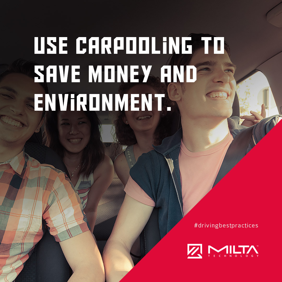 Use carpooling to save money and environment MILTA Technology