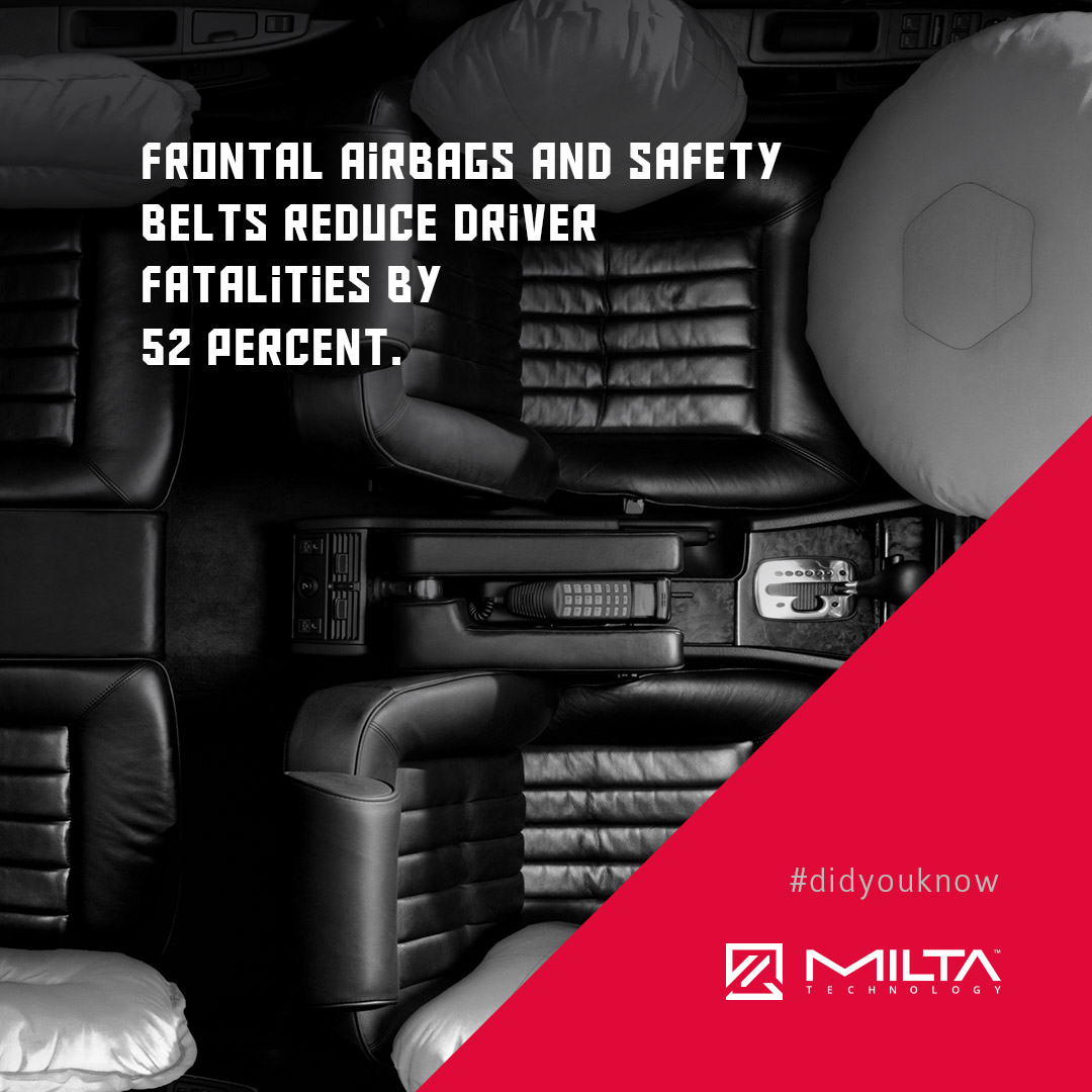 Frontal airbags and safety belts reduce driver fatalities by 52 percent MILTA Technology