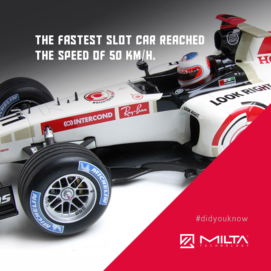 The fastest slot car reached the speed of 50 km/h MILTA Technology