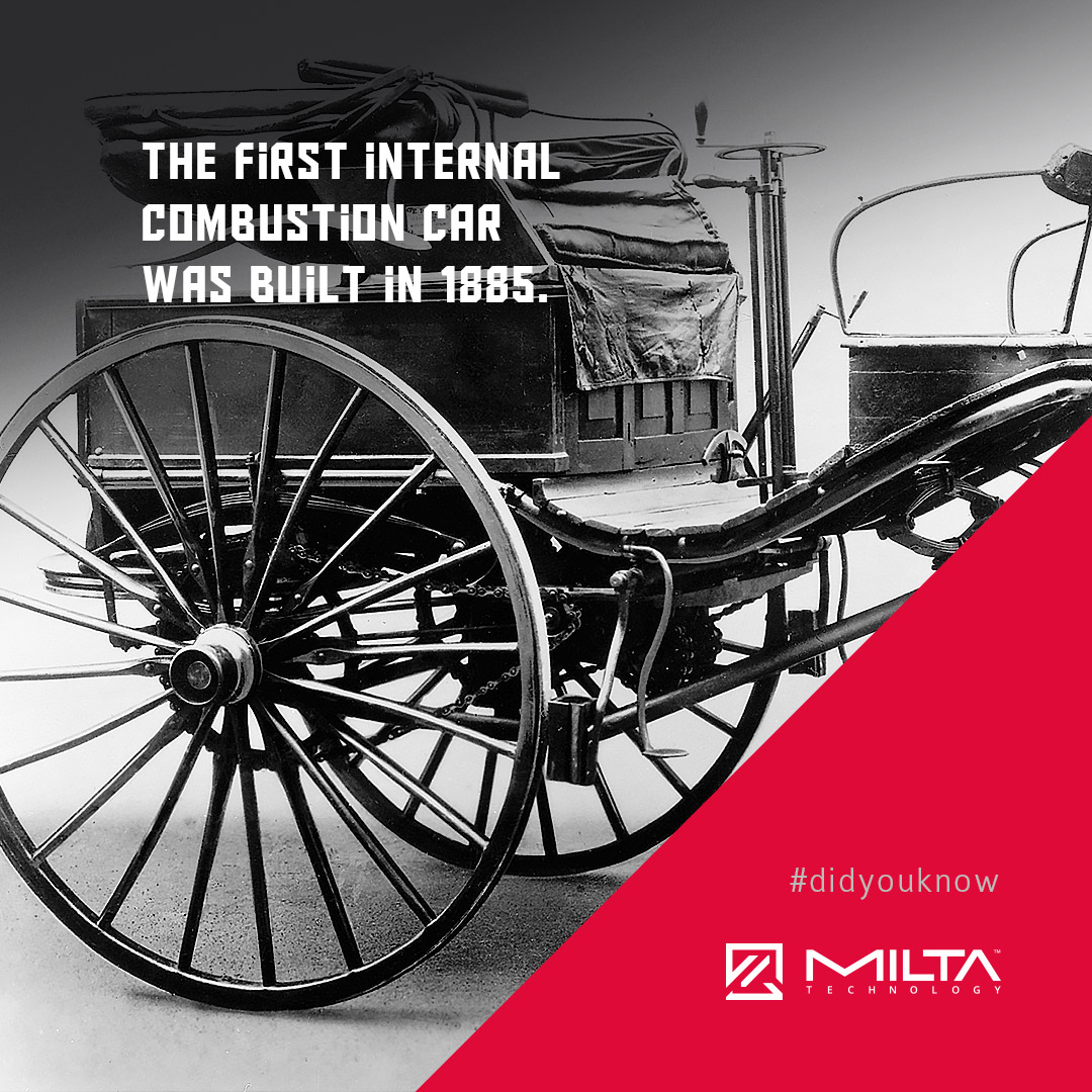 The first internal combustion car was built in 1885 MILTA Technology