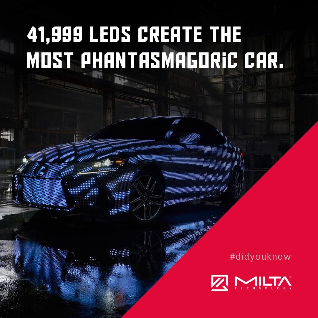 41,999 LEDs create the most phantasmagoric car MILTA Technology