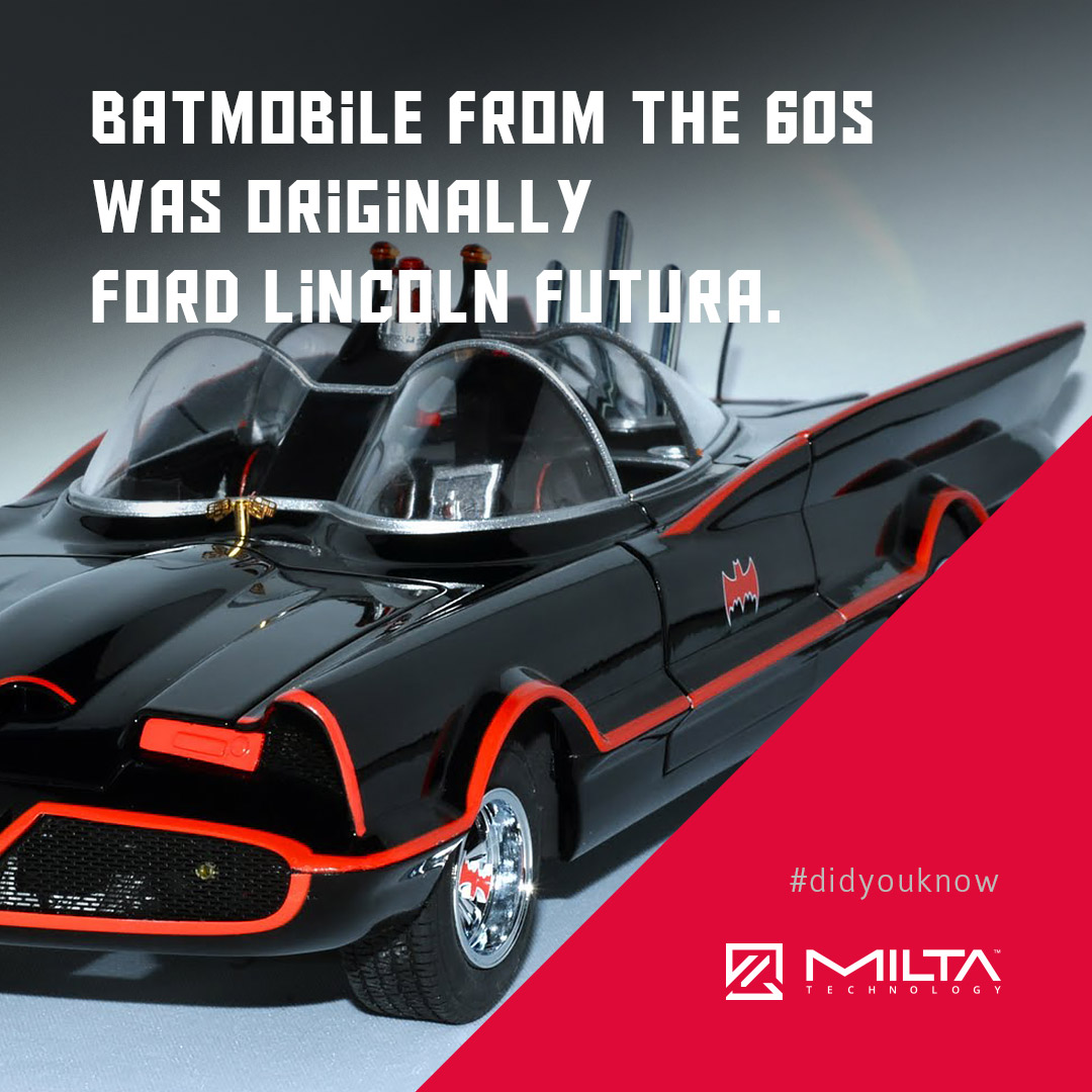 Batmobile from the 60s was originally Ford Lincoln Futura MILTA Technology