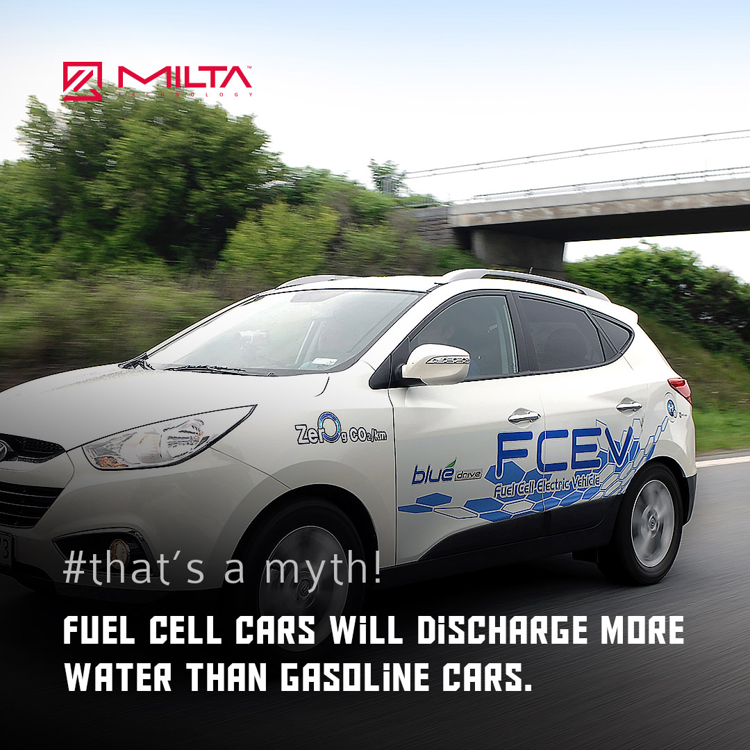 Fuel Cell Cars Will Discharge More Water Than Gasoline Cars MILTA Technology