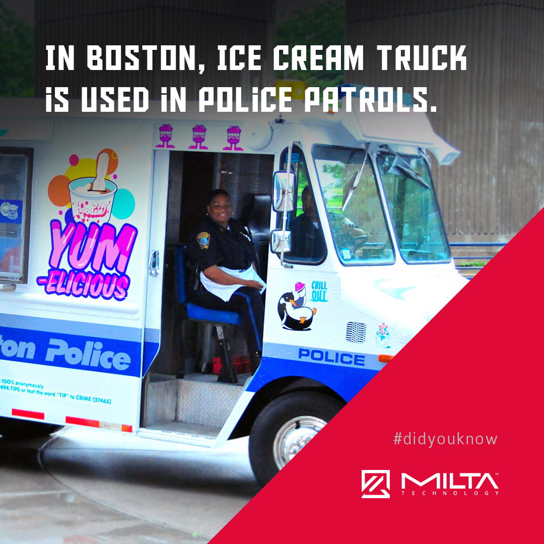 In Boston, Ice cream truck is used in police patrols MILTA Technology