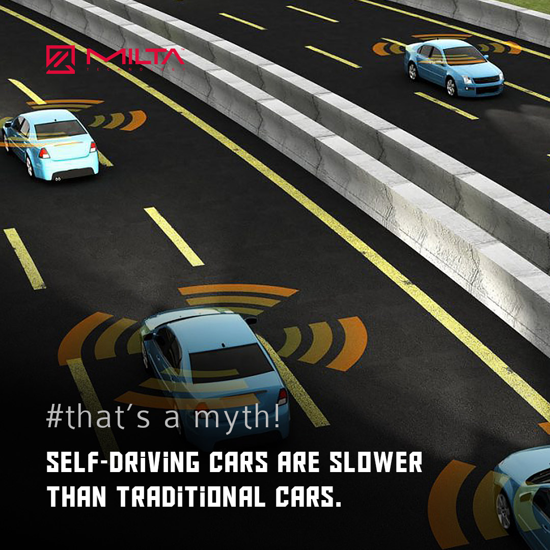 Self-driving cars are slower than traditional cars MILTA Technology