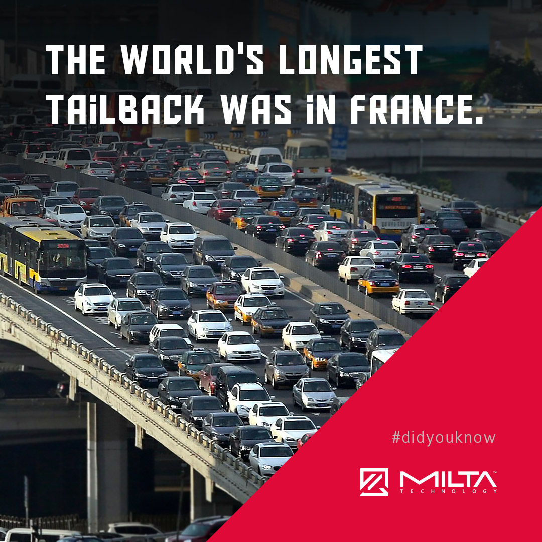 The world's longest tailback was in France MILTA Technology