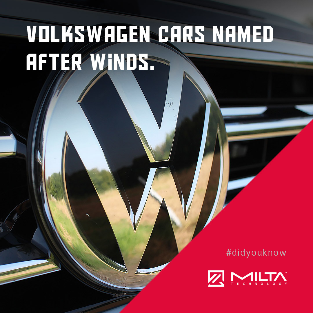 Volkswagen cars named after winds MILTA Technology