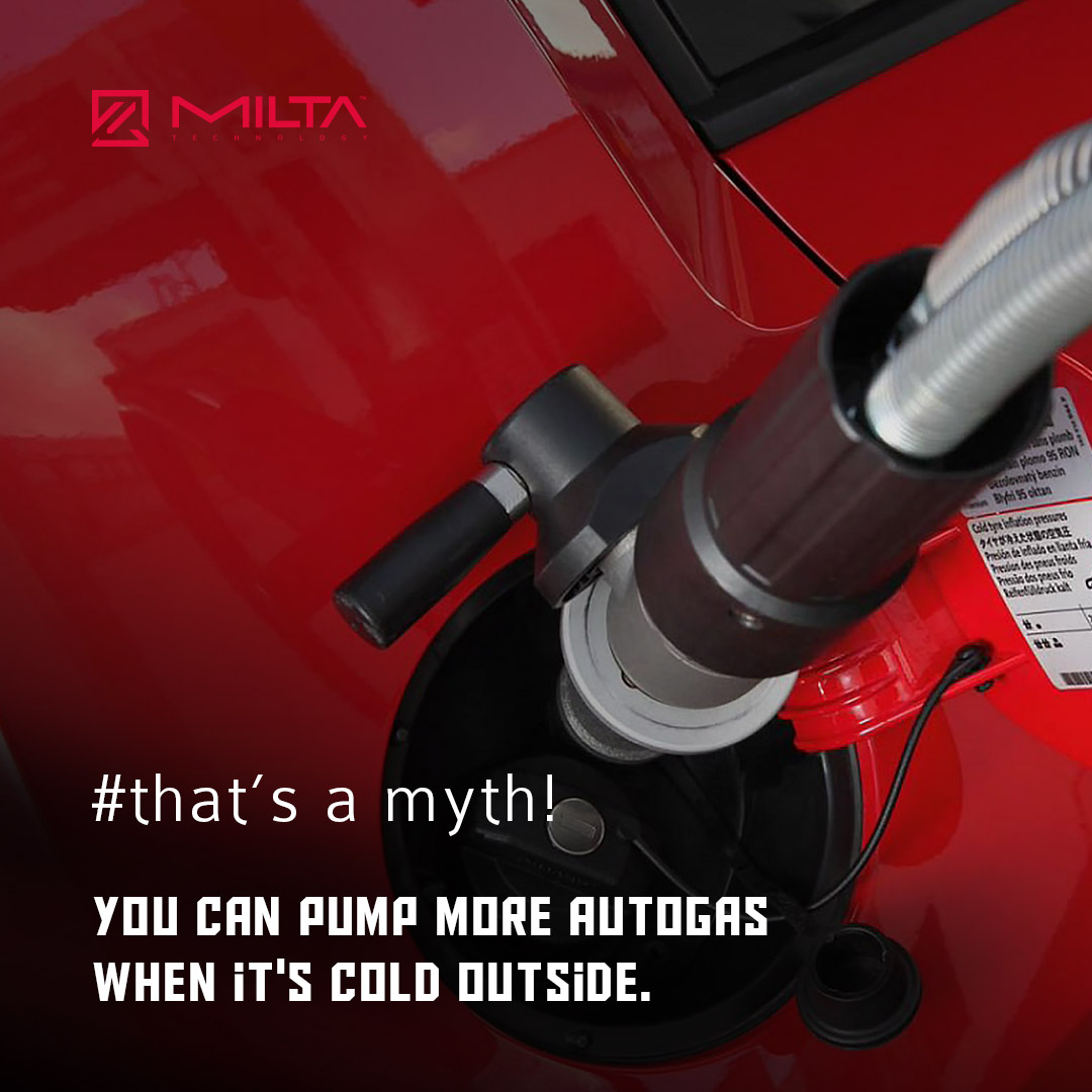 You can pump more autogas when it's cold outside MILTA Technology