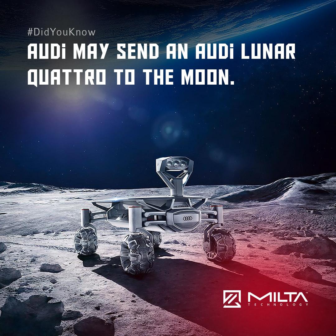 Audi may send an Audi Lunar Quattro to the Moon MILTA Technology