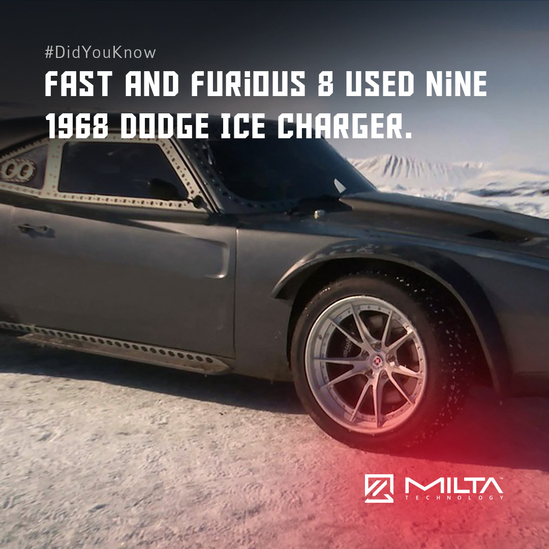 Fast and Furious 8 Used Nine 1968 Dodge Ice Charger MILTA Technology