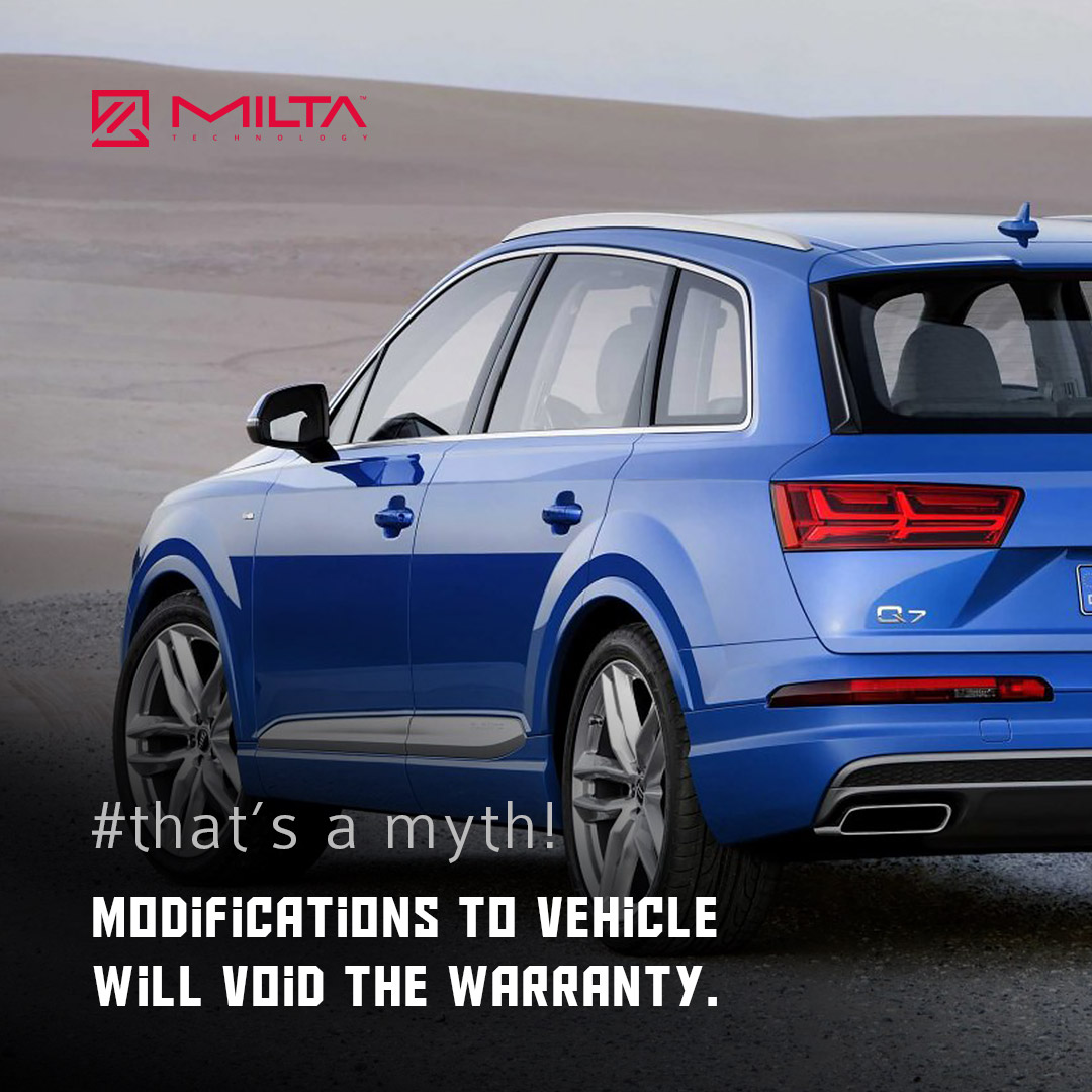 Modifications to Vehicle will Void the Warranty MILTA Technology