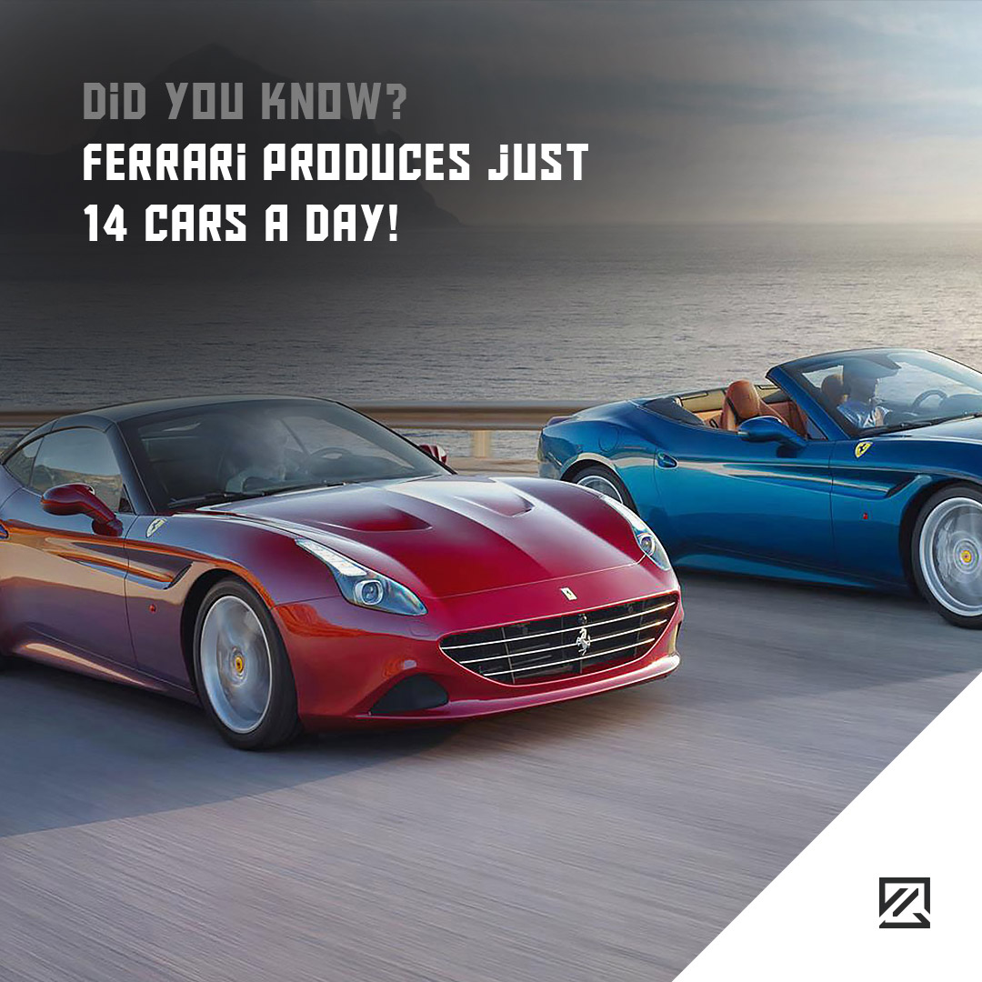 Ferrari Produces Just 14 Cars A Day!
