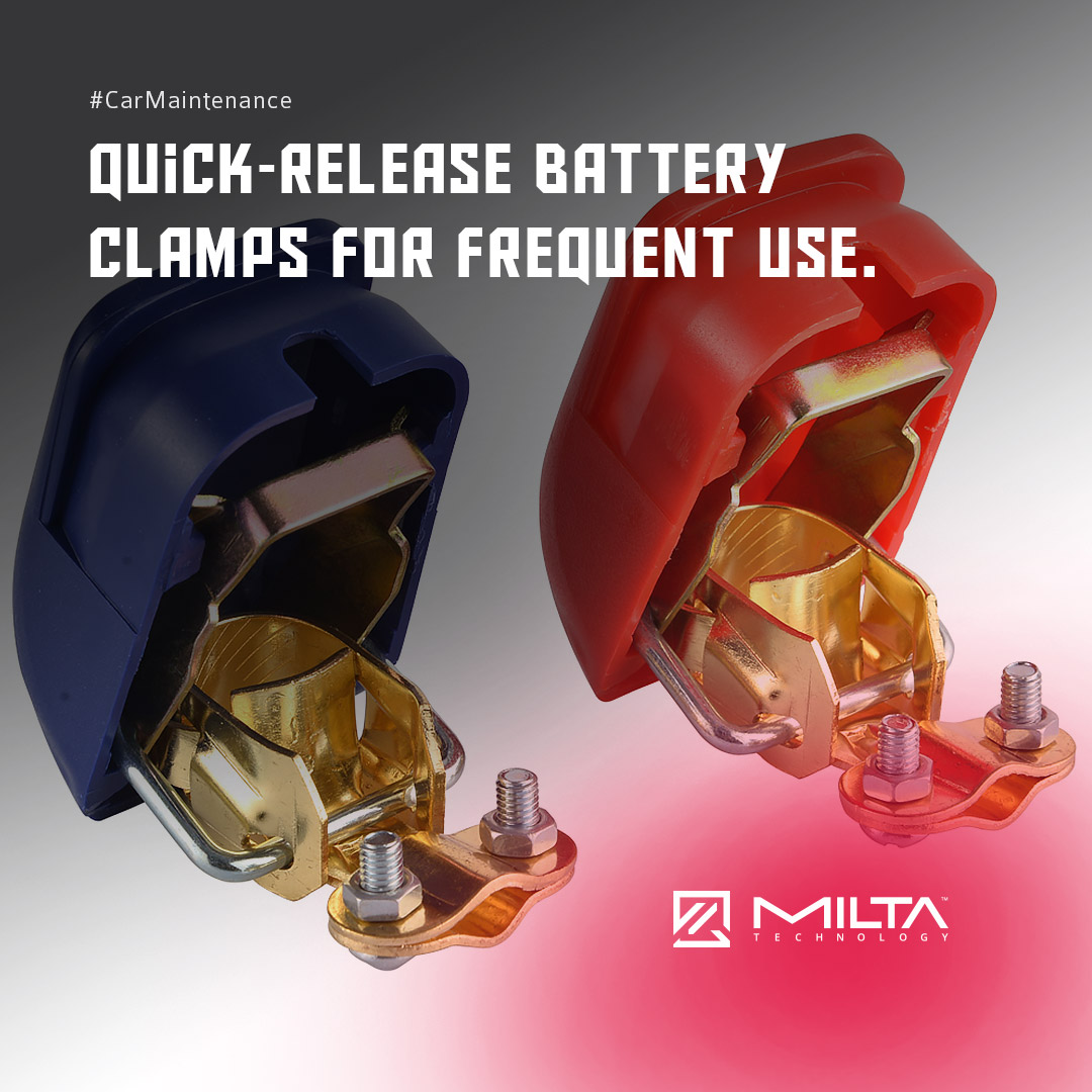 Quick-Release Battery Clamps for Frequent Use MILTA Technology
