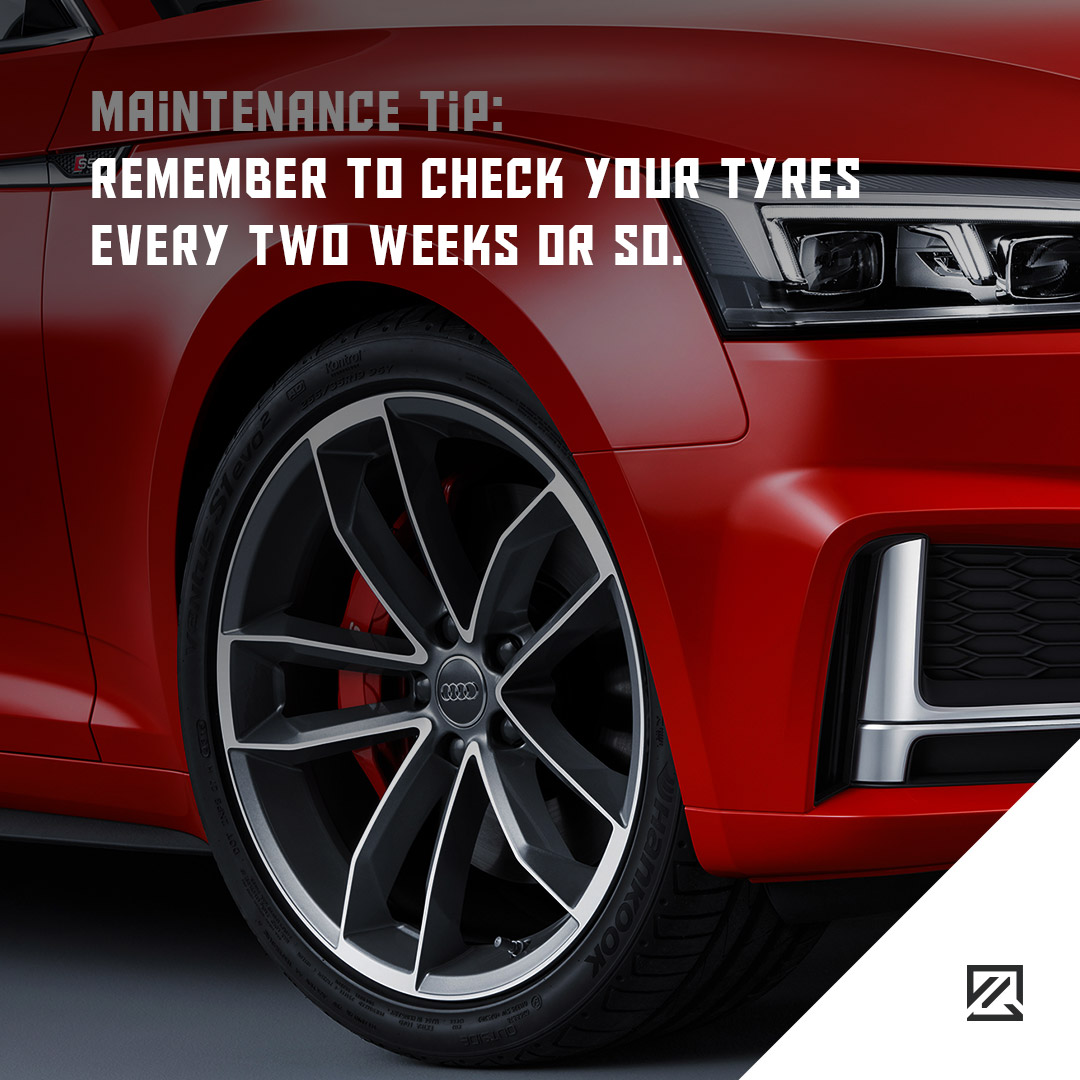 Remember to check your tyres every two weeks or so MILTA Technology