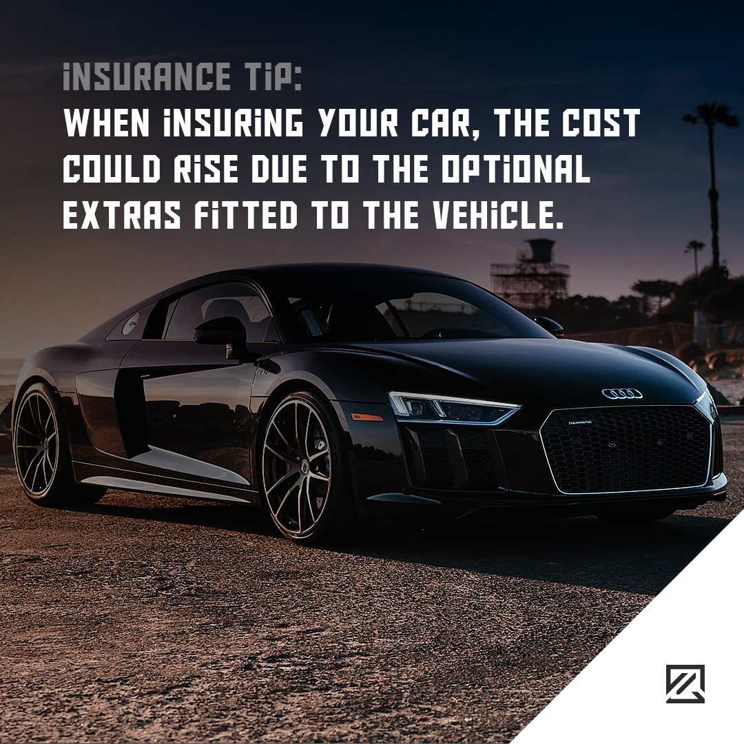 When insuring your car, the cost could rise due to the optional extras fitted to the vehicle MILTA Technology