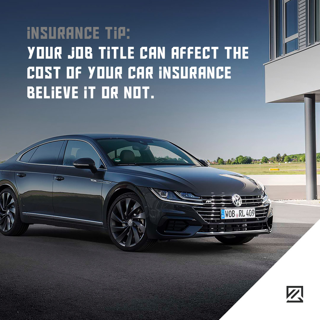 Your job title can affect the cost of your car insurance believe it or not MILTA Technology
