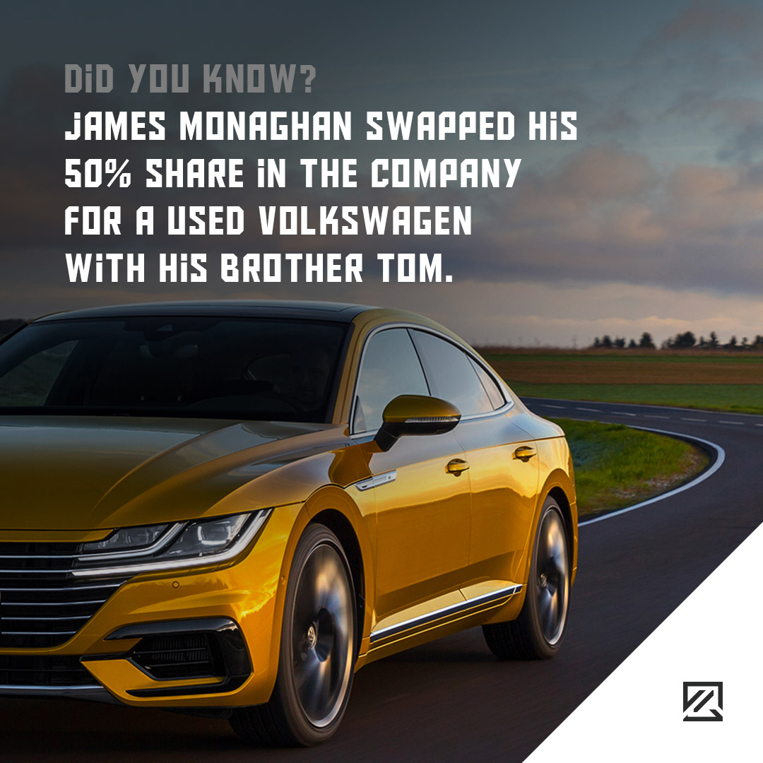 James Monaghan swapped his 50% share in the company for a used Volkswagen with his brother Tom MILTA Technology