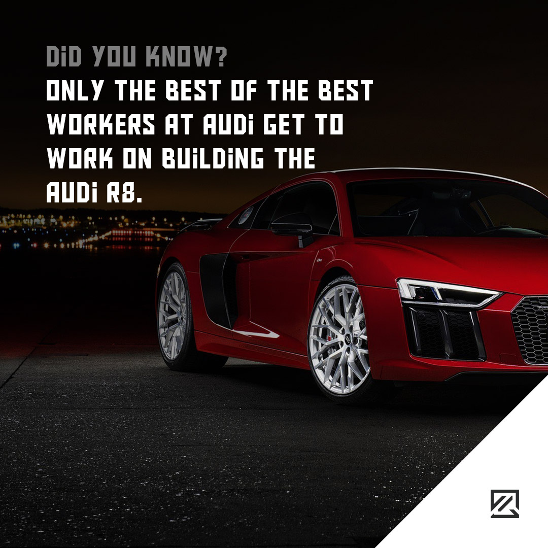 Only the best of the best workers at Audi get to work on building the Audi R8 MILTA Technology