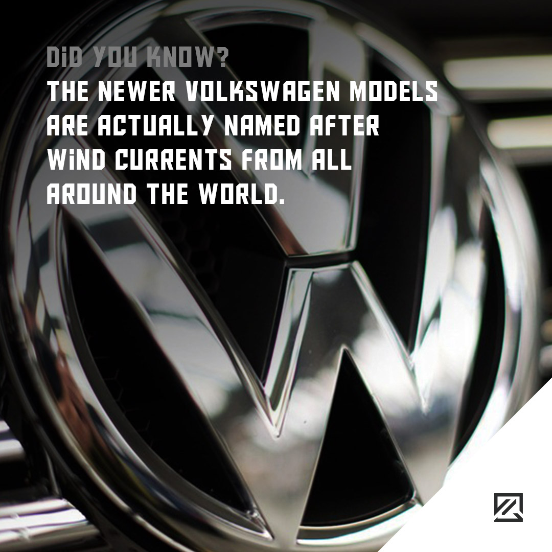 The newer Volkswagen models are actually named after wind currents from all around the world MILTA Technology