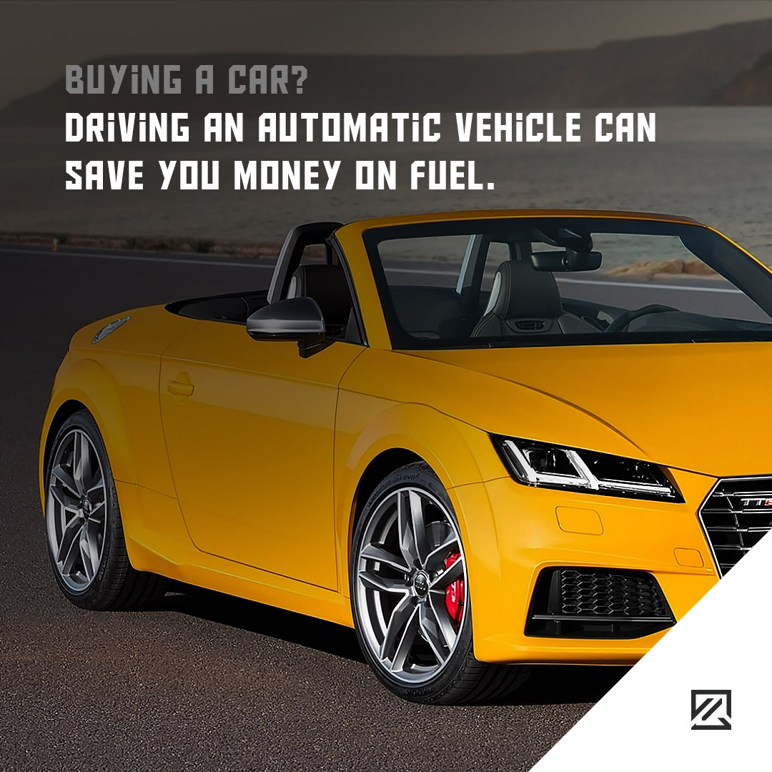 Driving an automatic vehicle can save you money on fuel. MILTA Technology