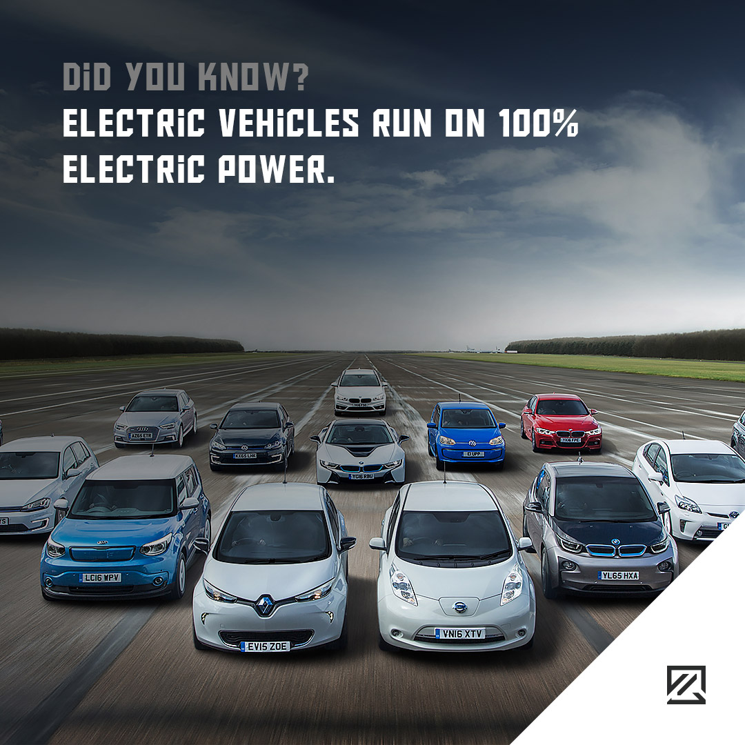 Electric vehicles run on 100% electric power. MILTA Technology