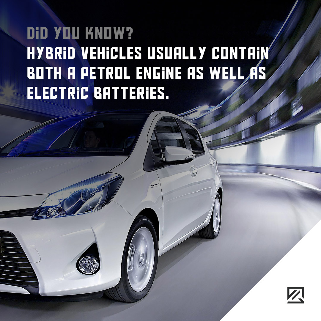 Hybrid vehicles usually contain both a petrol engine as well as electric batteries. MILTA Technology