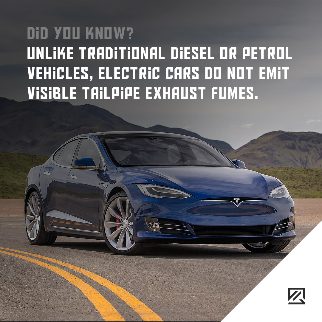 Unlike traditional diesel or petrol vehicles, electric cars do not emit visible tailpipe exhaust fumes. MILTA Technology