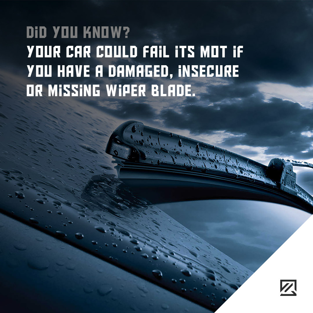 Your car could fail its MOT if you have a damaged, insecure or missing wiper blade. MILTA Technology