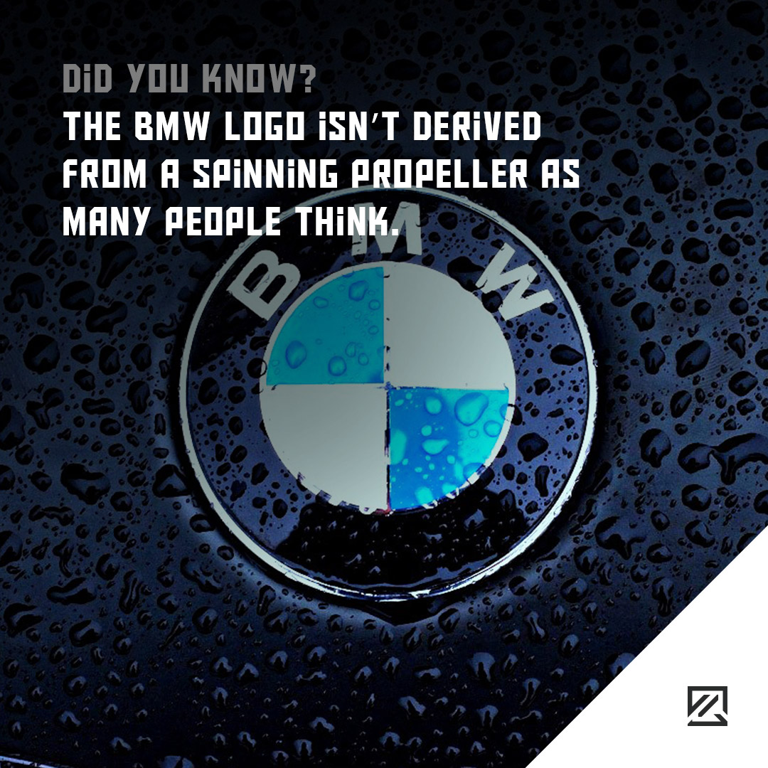 The BMW logo isn't derived from a spinning propeller as many people think MILTA Technology