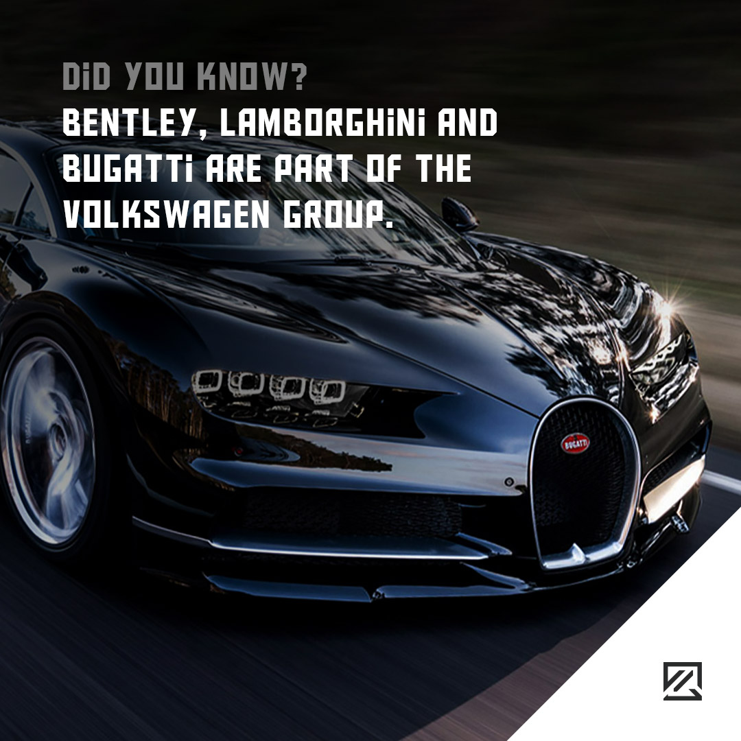Bentley, Lamborghini and Bugatti are part of the Volkswagen Group MILTA Technology