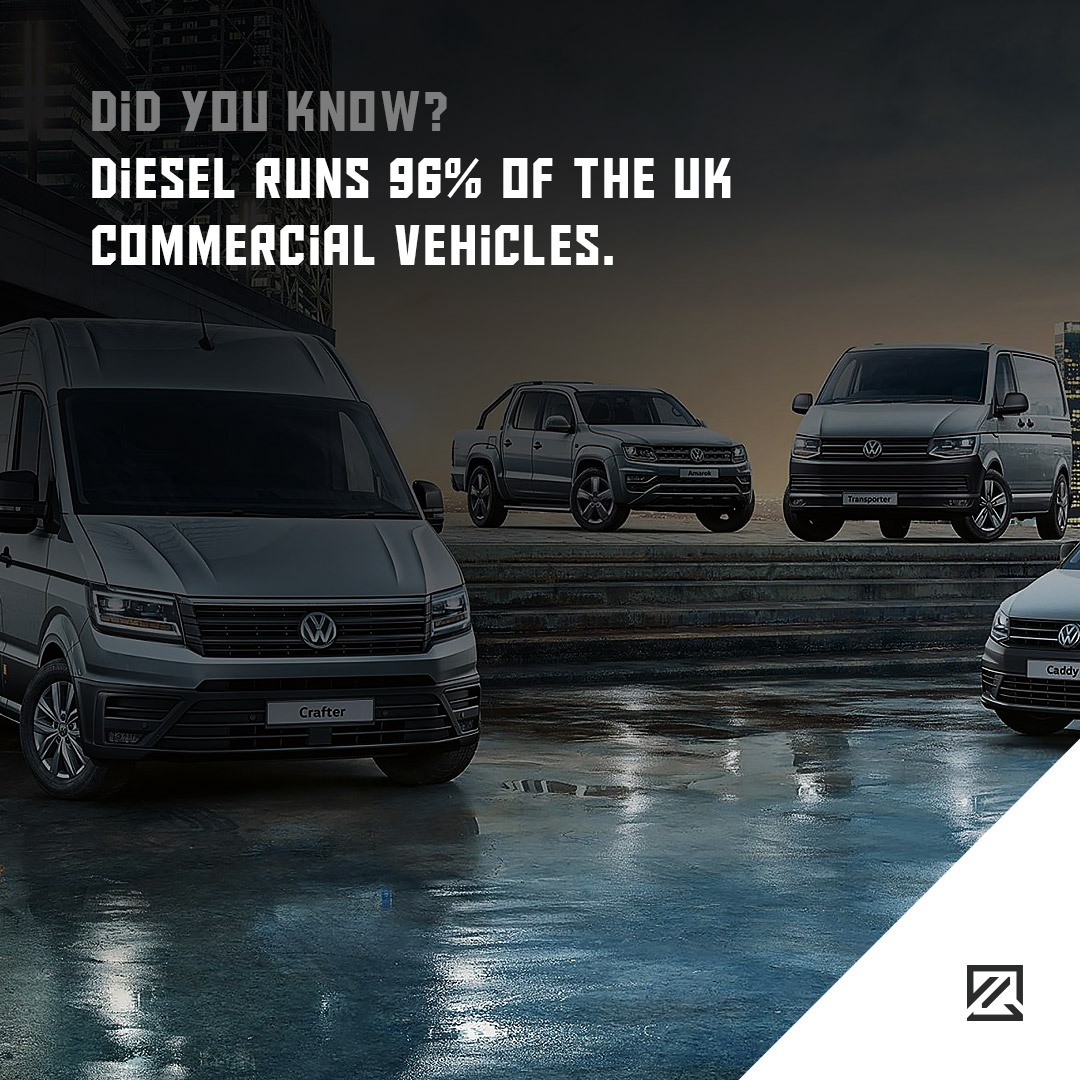 Diesel Runs 96% of the UK Commercial Vehicles MILTA Technology