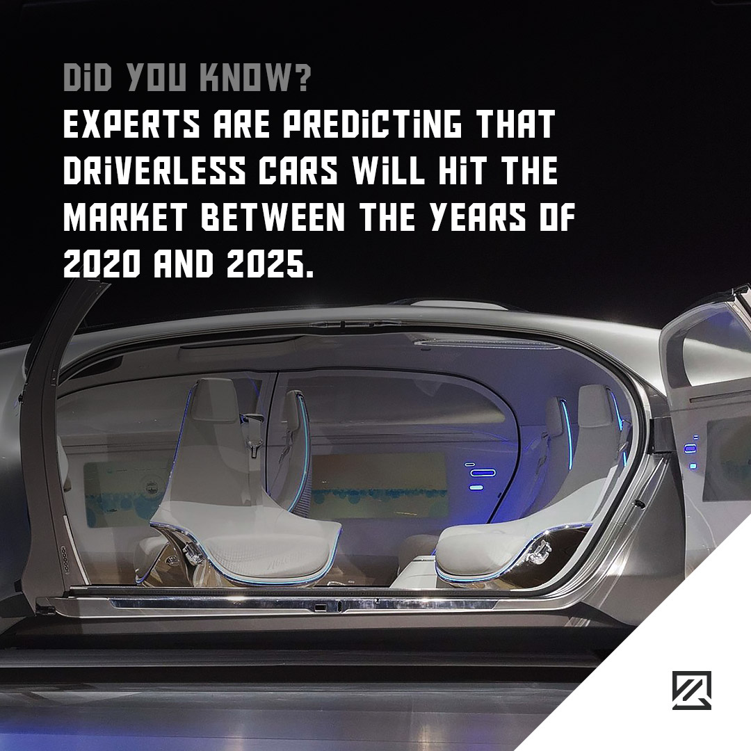 Experts are predicting that driverless cars will hit the market between the years of 2020 and 2025 MILTA Technology