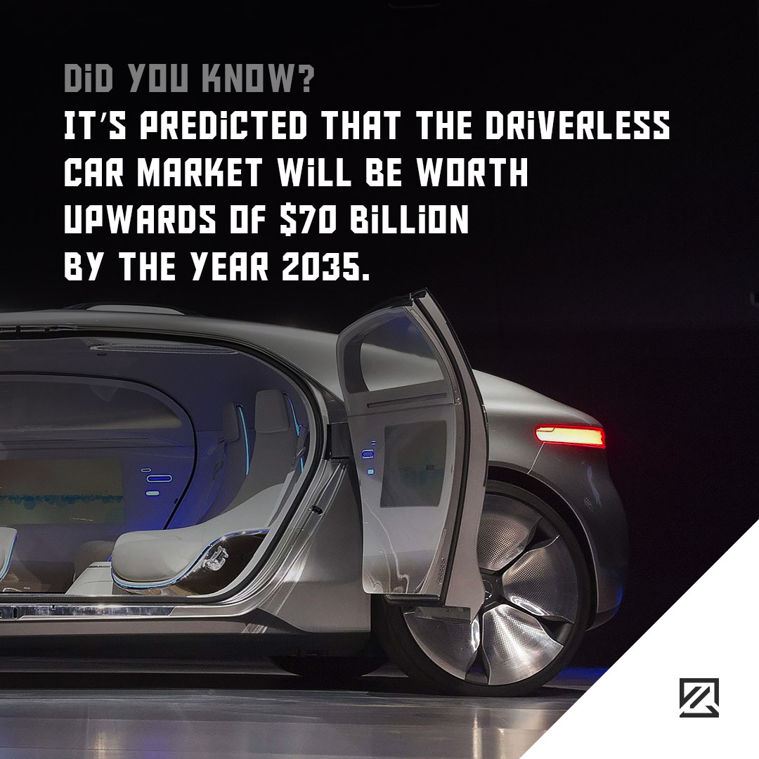 It's predicted that the driverless car market will be worth upwards of $70 billion by the year 2035 MILTA Technology