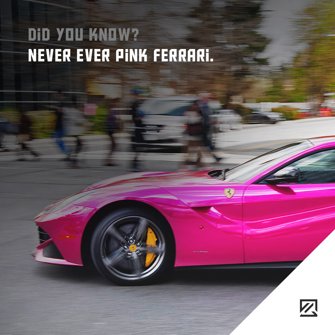 Never Ever Pink Ferrari. MILTA Technology