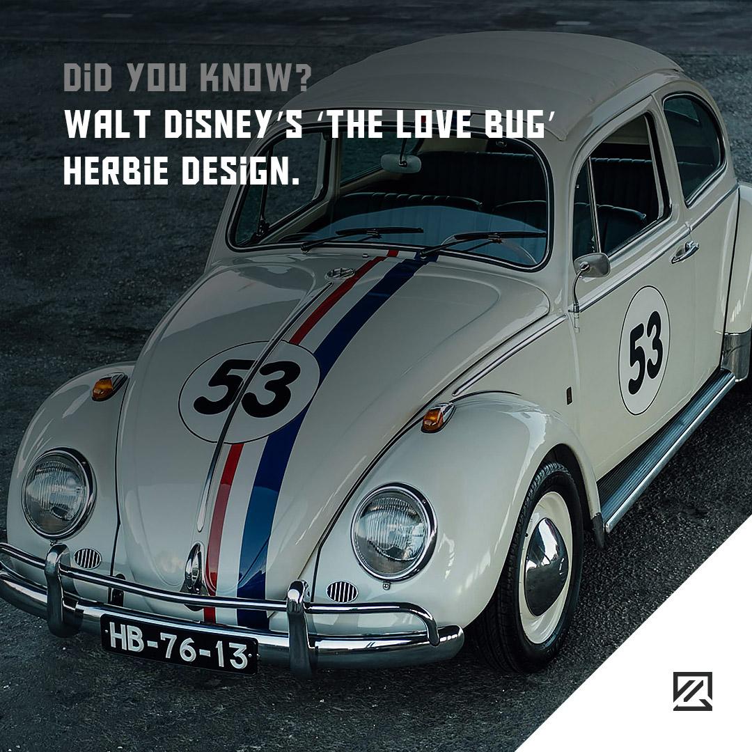 Walt Disney's 'The Love Bug' Herbie Design. MILTA Technology