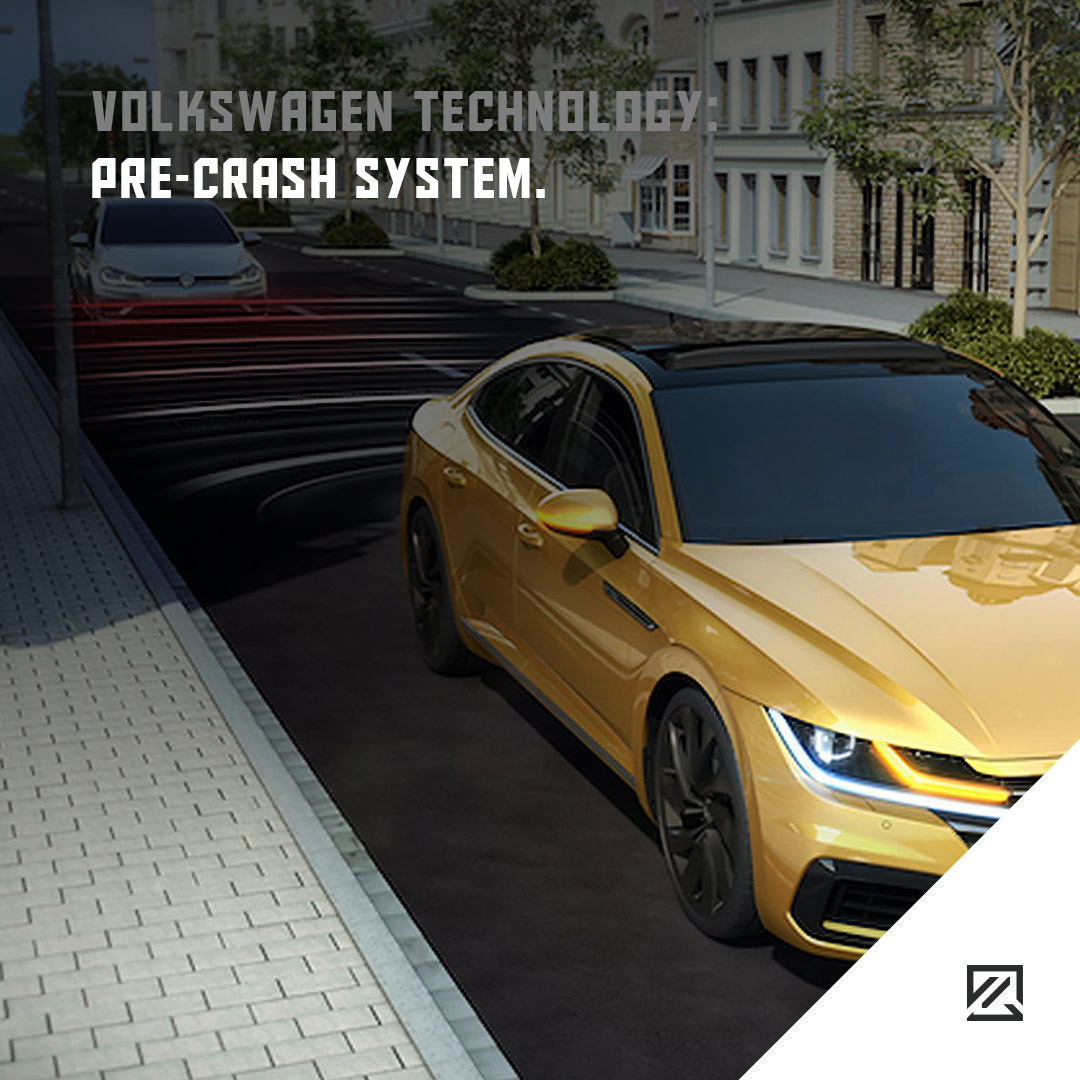 Volkswagen Technology: Pre-crash system MILTA Technology