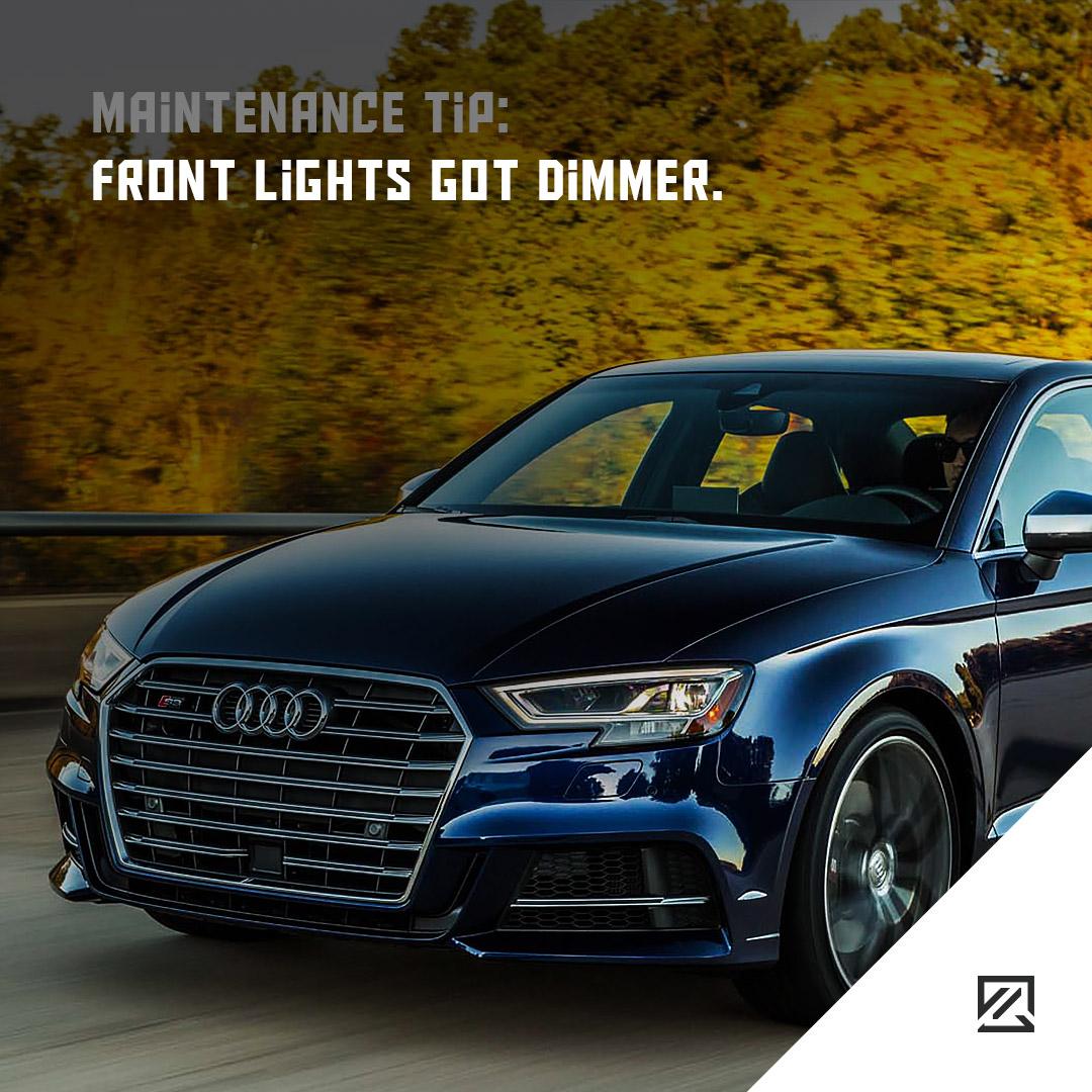 Front Lights Got Dimmer. MILTA Technology