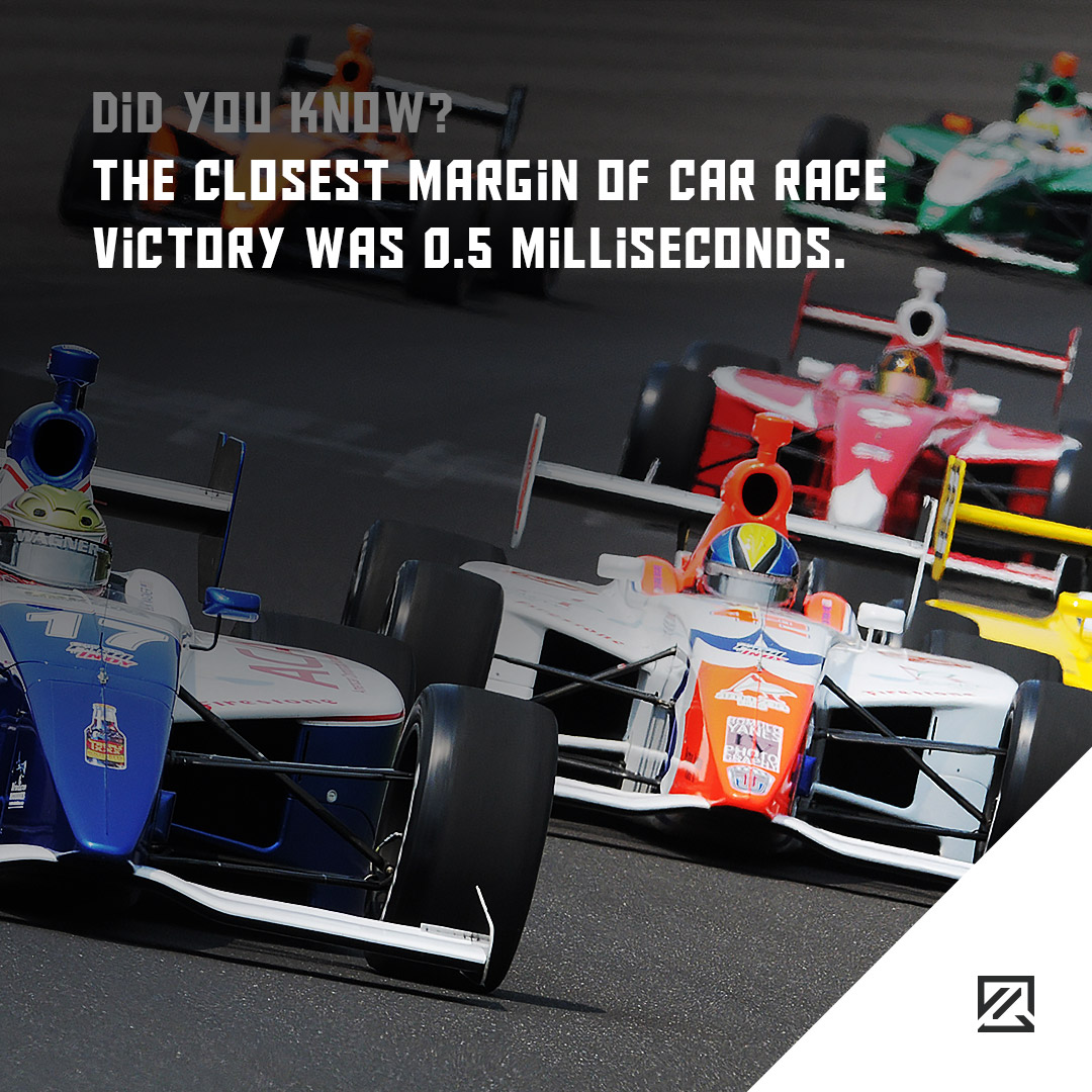 The Closest Margin Of Car Race Victory Was 0.5 Milliseconds. MILTA Technology