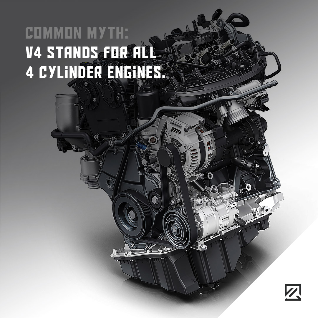 V4 Stands for All 4 Cylinder Engines. MILTA Technology