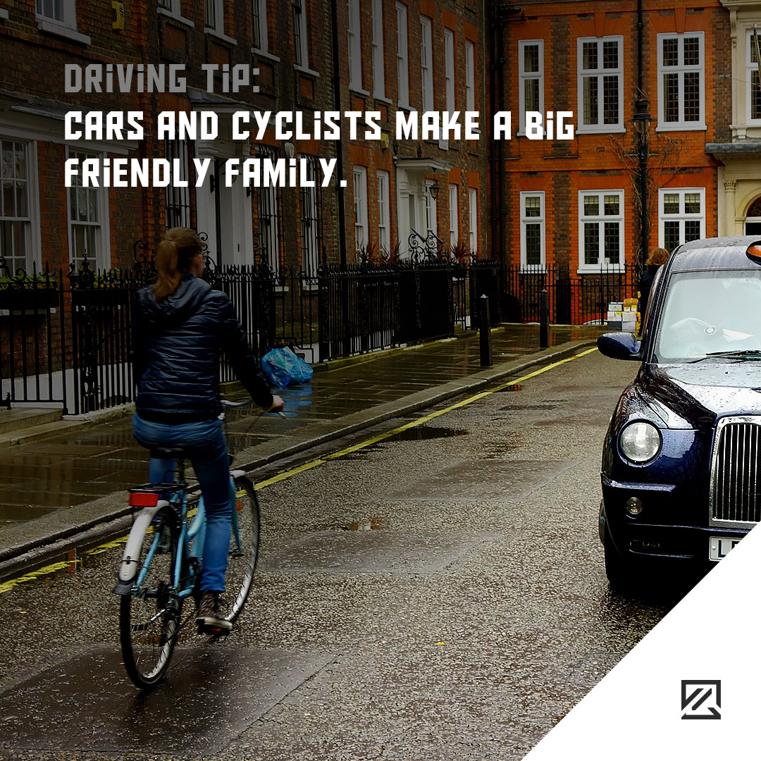 Cars and Cyclists Make a Big Friendly Family. MILTA Technology